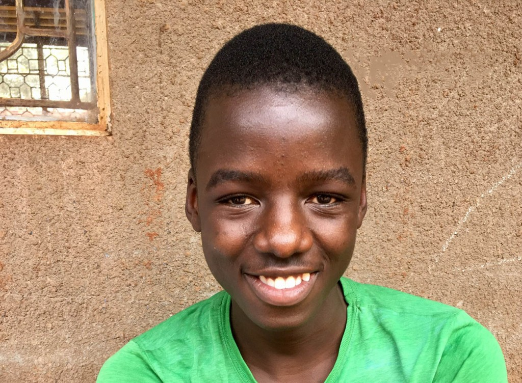 Geoffrey, lost his vision aged 11. After treatment for his eye infections he has returned to secondary school