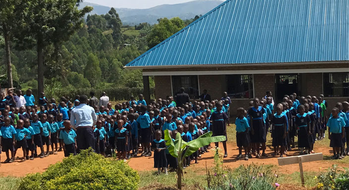 Little Shepherd School. Rutunguru, Uganda Primary school and nursery in a remote area