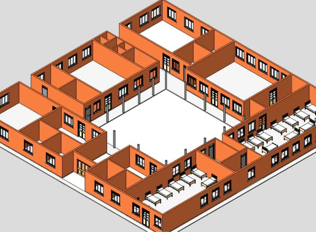 Plan view of St. Francis de Sales, Nursery School for deaf children, Jinja, Uganda