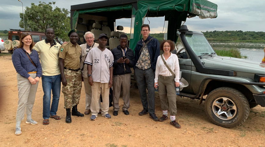 The HUGS team on Safari in Uganda in 2019